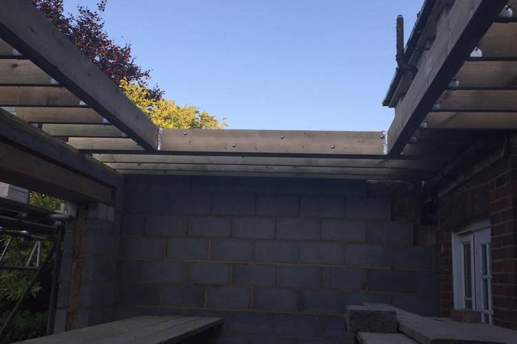 Extension Ceiling Timber Frame