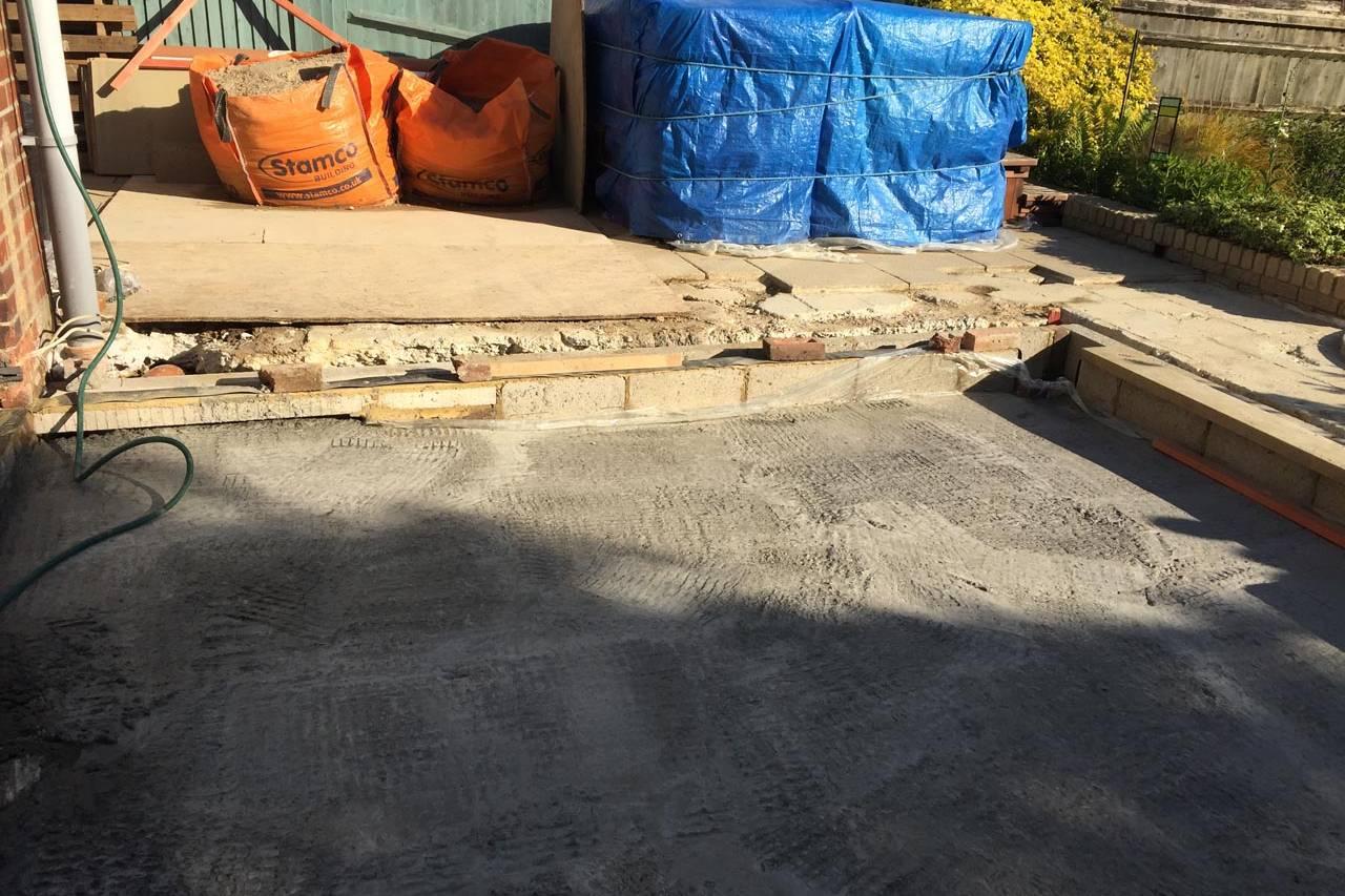 Extension Concrete Base