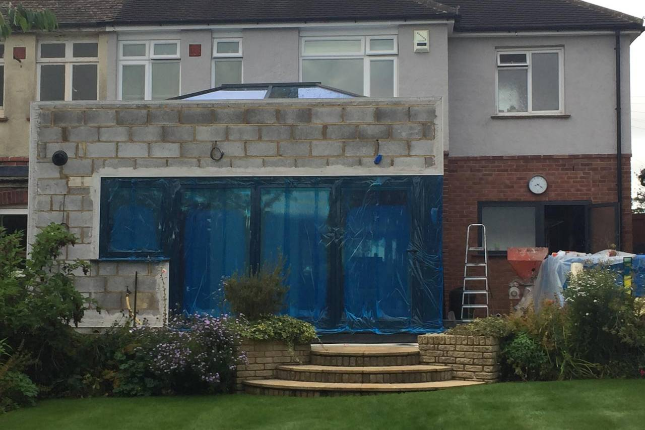 Extension With Patio Doors Installed